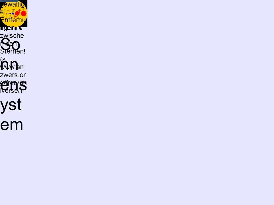 Unt ers che idu ng Bra un er Zw erg e von Ste rne n (www.as tron.berk eley.edu/ ~stars/b dwarfs/) Masse in Sonnen massen: 1 0.6...0.0 8 0.08...0.