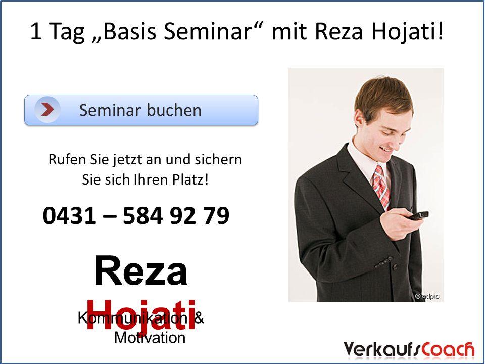 "1 Tag ""Basis Seminar mit Reza Hojati."