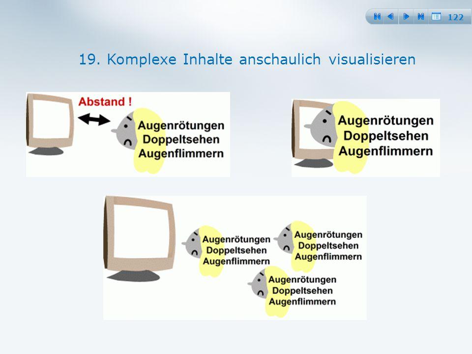 122 19. Komplexe Inhalte anschaulich visualisieren