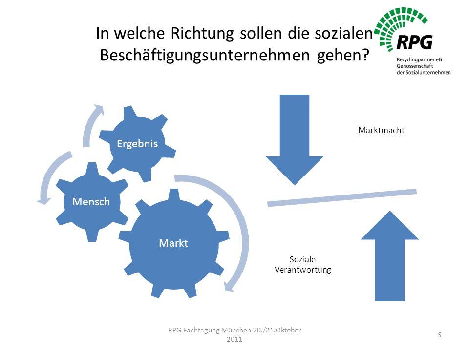 In welche Richtung sollen die sozialen Beschäftigungsunternehmen gehen.