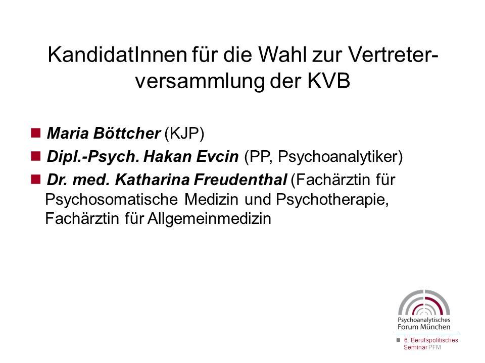 Maria Böttcher (KJP) Dipl.-Psych. Hakan Evcin (PP, Psychoanalytiker) Dr. med. Katharina Freudenthal (Fachärztin für Psychosomatische Medizin und Psych