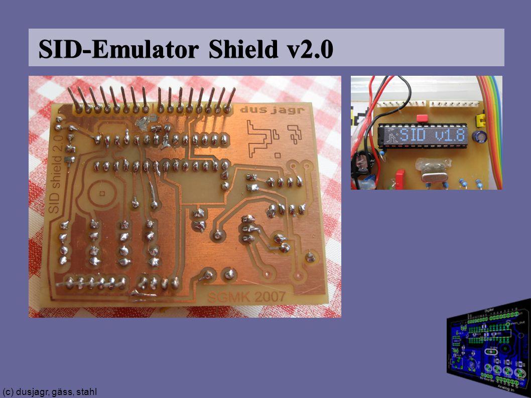 (c) dusjagr, gäss, stahl SID-Emulator Shield v2.0