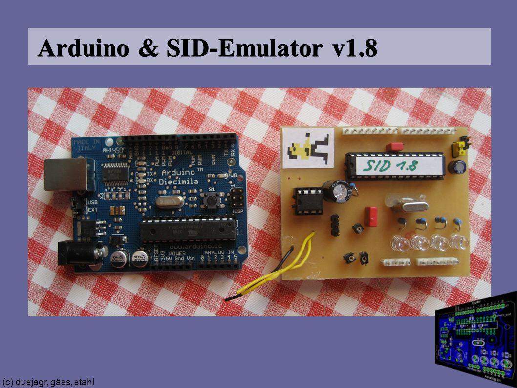 (c) dusjagr, gäss, stahl Arduino & SID-Emulator v1.8