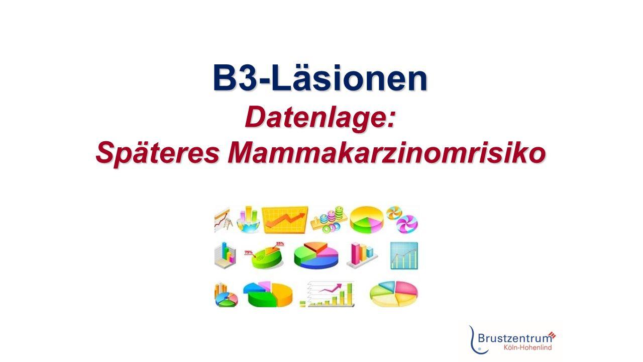 B3-Läsionen Datenlage: Späteres Mammakarzinomrisiko