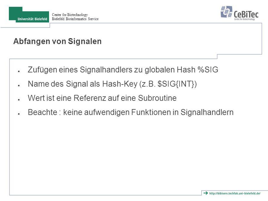 """Center for Biotechnology Bielefeld Bioinformatics Service Aufgabe(n) 1.Schreibe ein Skript, das endlos alle 5 Sekunden """"I m sleeping. ausgibt."""