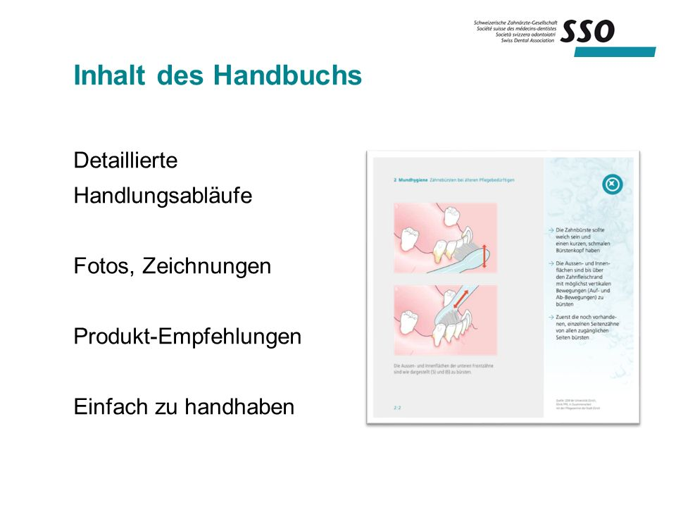 Inhalt des Handbuchs Detaillierte Handlungsabläufe Fotos, Zeichnungen Produkt-Empfehlungen Einfach zu handhaben