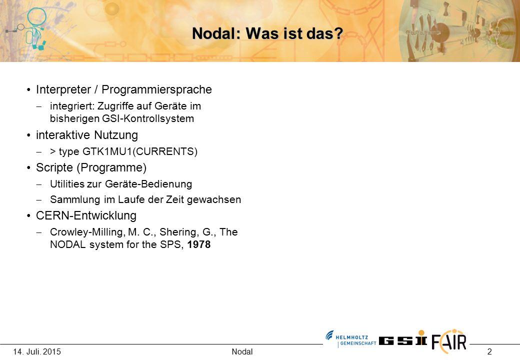 14.Juli. 2015 Nodal 3 Zukunft von Nodal.