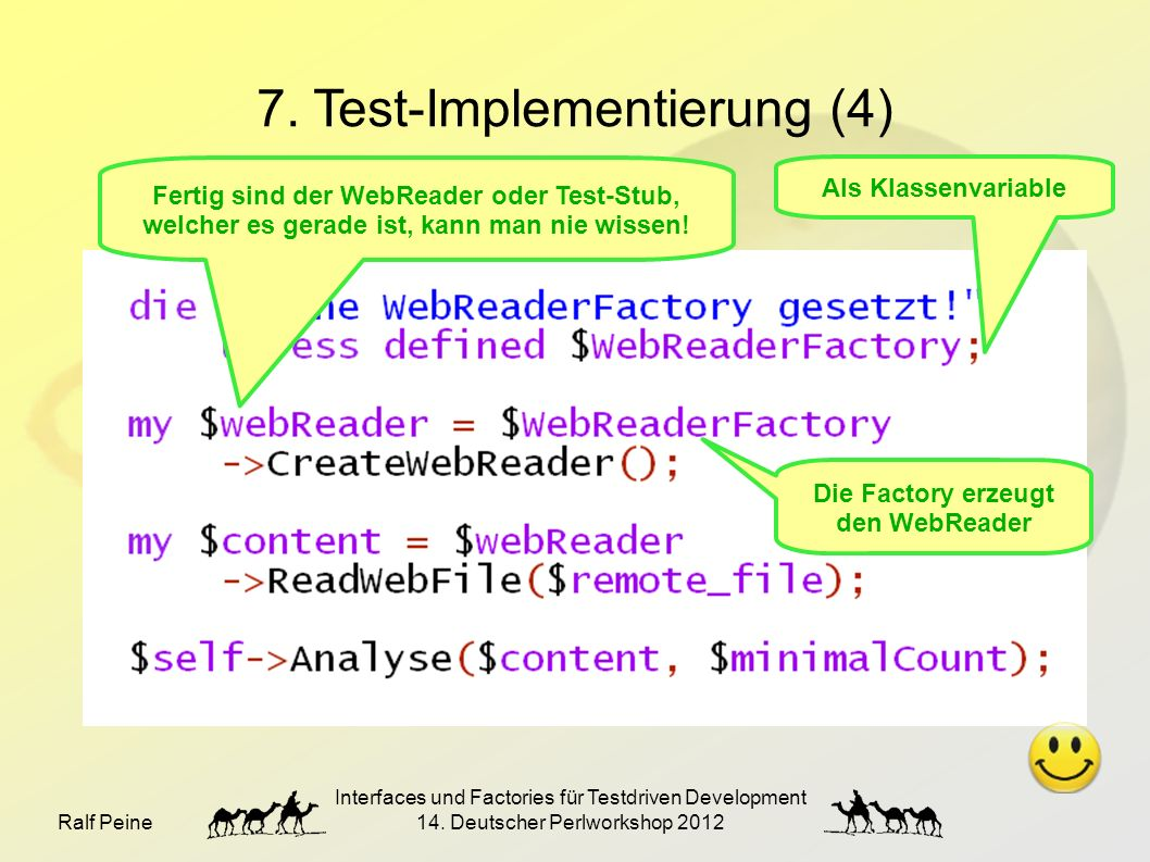 Ralf Peine Interfaces und Factories für Testdriven Development 14.