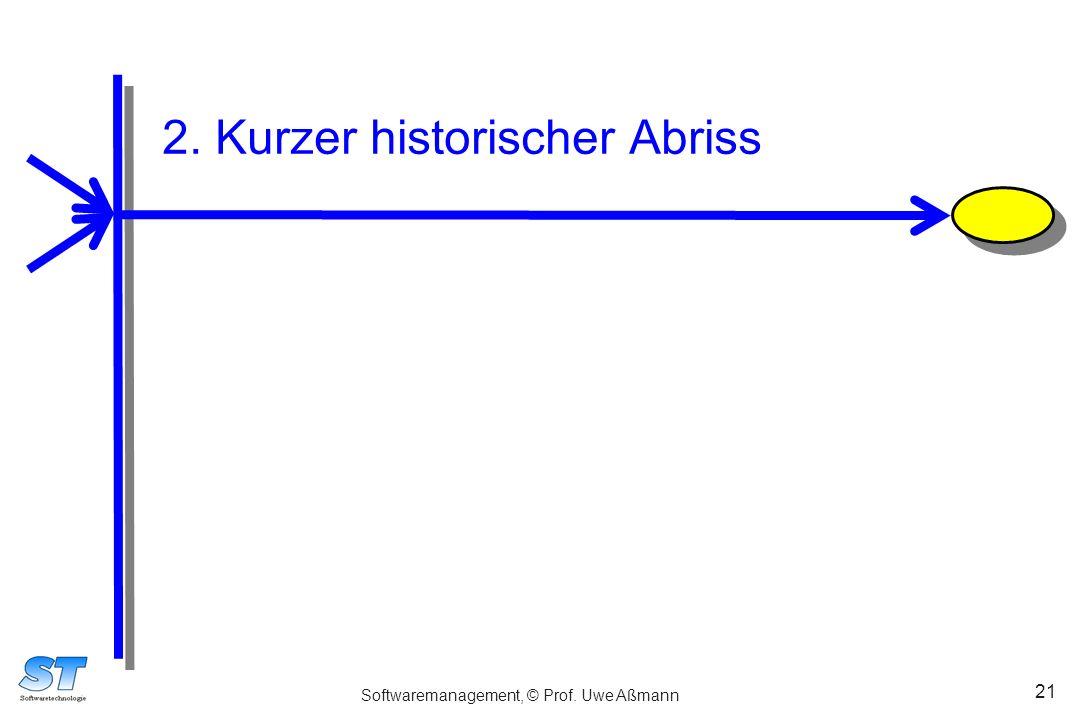 Softwaremanagement, © Prof. Uwe Aßmann 21 2. Kurzer historischer Abriss