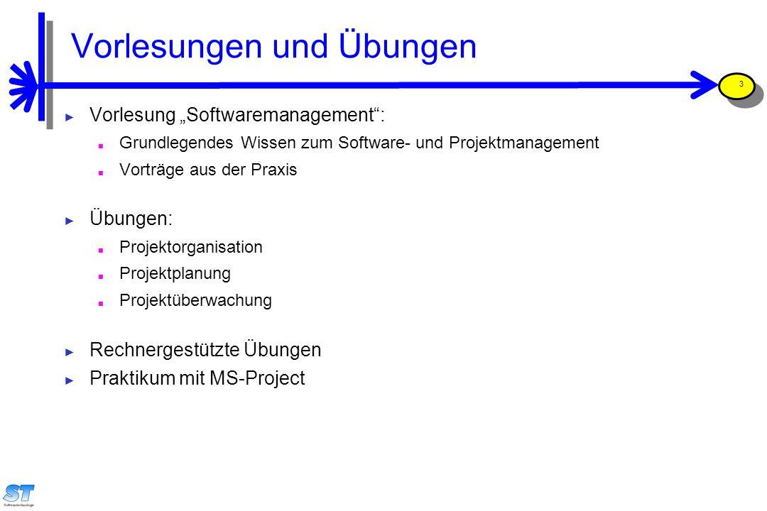 """Prof. Uwe Aßmann, Softwaremanagement 3 Vorlesungen und Übungen ► Vorlesung """"Softwaremanagement"""": ■ Grundlegendes Wissen zum Software- und Projektmanag"""