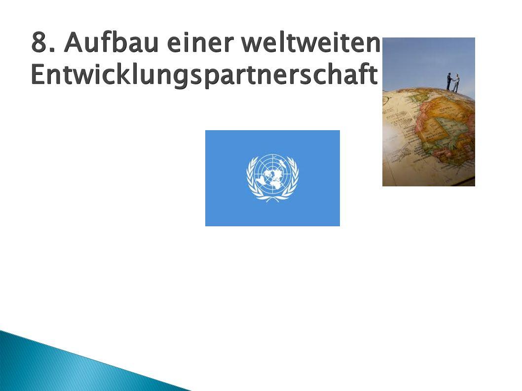 8. Aufbau einer weltweiten Entwicklungspartnerschaft