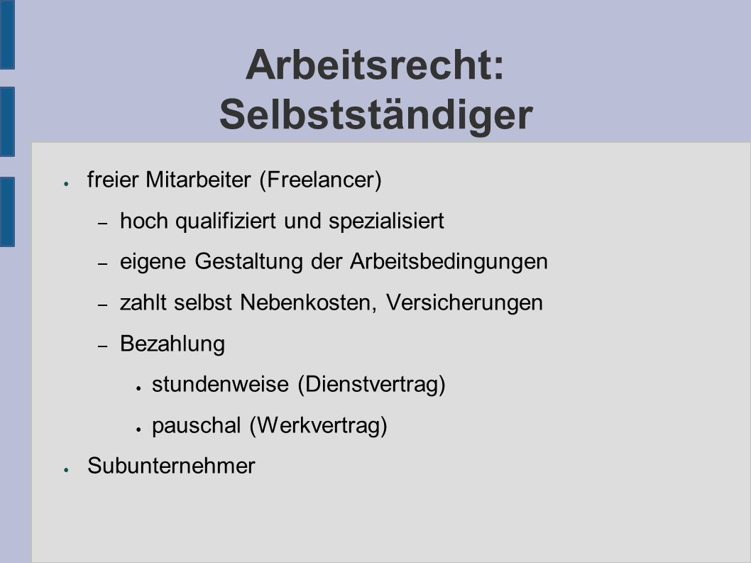 Quellen ● http://www.woerterbuchnetz.de/woerterbuecher/dwb/wbgui?lemid=GR02 054 http://www.woerterbuchnetz.de/woerterbuecher/dwb/wbgui?lemid=GR02 054 ● http://www.gruenderleitfaden.de/recht/vertragsrecht/softwareentwicklung.html http://www.gruenderleitfaden.de/recht/vertragsrecht/softwareentwicklung.html ● http://de.wikipedia.org/w/index.php?title=Recht&stableid=46814910 http://de.wikipedia.org/w/index.php?title=Recht&stableid=46814910 ● http://de.wikipedia.org/w/index.php?title=Freier_Mitarbeiter&stableid=46 237846 http://de.wikipedia.org/w/index.php?title=Freier_Mitarbeiter&stableid=46 237846 ● http://de.wikipedia.org/w/index.php?title=Arbeitnehmer&oldid=46617113 http://de.wikipedia.org/w/index.php?title=Arbeitnehmer&oldid=46617113 ● http://de.wikipedia.org/w/index.php?title=Kaufvertrag&stableid=4682505 6 http://de.wikipedia.org/w/index.php?title=Kaufvertrag&stableid=4682505 6 ● http://www.profv.de/dc-rap/ http://www.profv.de/dc-rap/ ● http://www.fsf.org/licensing/essays/free-sw.html http://www.fsf.org/licensing/essays/free-sw.html ● http://www.bephpug.de/folien/freie_software.html http://www.bephpug.de/folien/freie_software.html ● http://de.wikipedia.org/w/index.php?title=Gemeinfreiheit&oldid=4685534 6 http://de.wikipedia.org/w/index.php?title=Gemeinfreiheit&oldid=4685534 6 ● http://de.wikipedia.org/w/index.php?title=Urheberrecht&oldid=46747221 http://de.wikipedia.org/w/index.php?title=Urheberrecht&oldid=46747221 ● http://www.infodrom.org/~joey/Writing/Linux-Magazin/ircII.html http://www.infodrom.org/~joey/Writing/Linux-Magazin/ircII.html ● http://en.wikipedia.org/w/index.php?title=Qmail&oldid=209643411#Copy right_status http://en.wikipedia.org/w/index.php?title=Qmail&oldid=209643411#Copy right_status ● http://sourceforge.net/forum/forum.php?forum_id=601861 http://sourceforge.net/forum/forum.php?forum_id=601861 ● http://www.trilon.com/xv/xv.html http://www.trilon.com/xv/xv.html