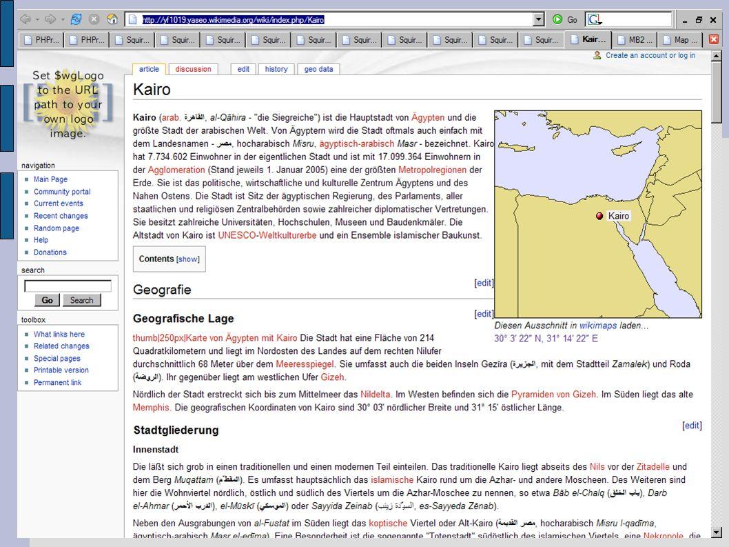 Geo-Consortium: Geocache & Wikimaps – Lösungen von und für mobile Menschen 05. Oktober. 2005