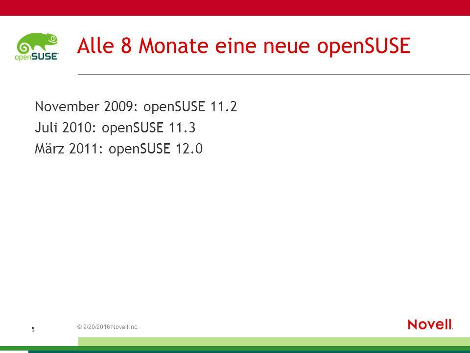Entwicklung von openSUSE