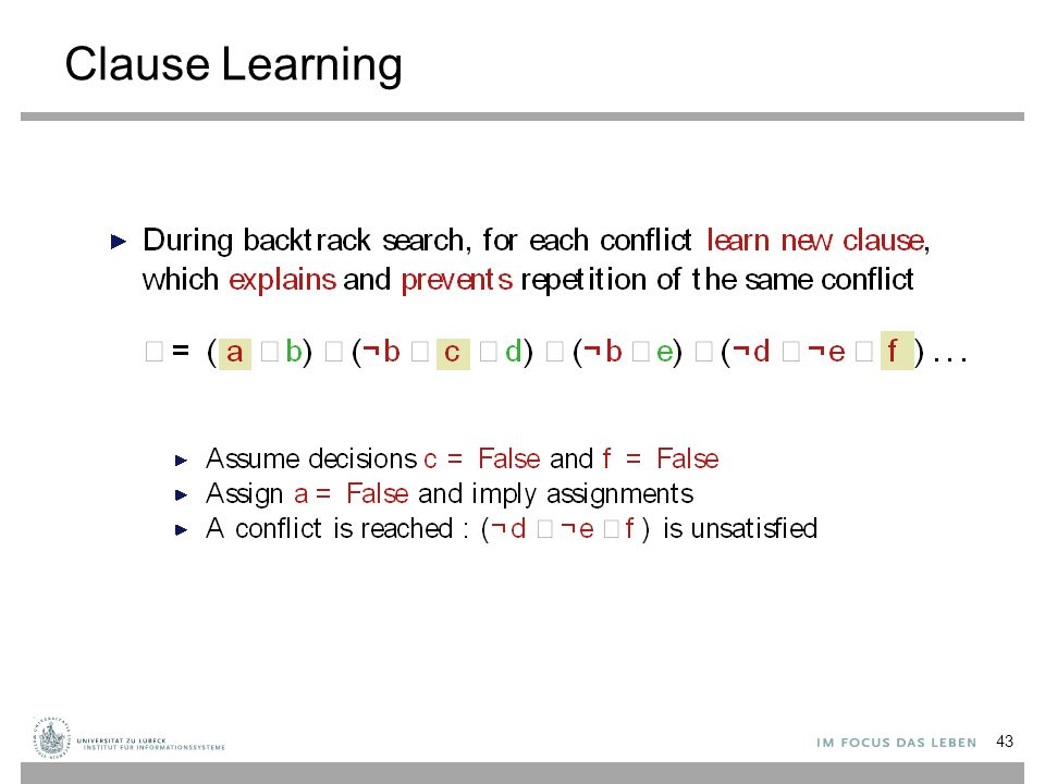 Clause Learning 43