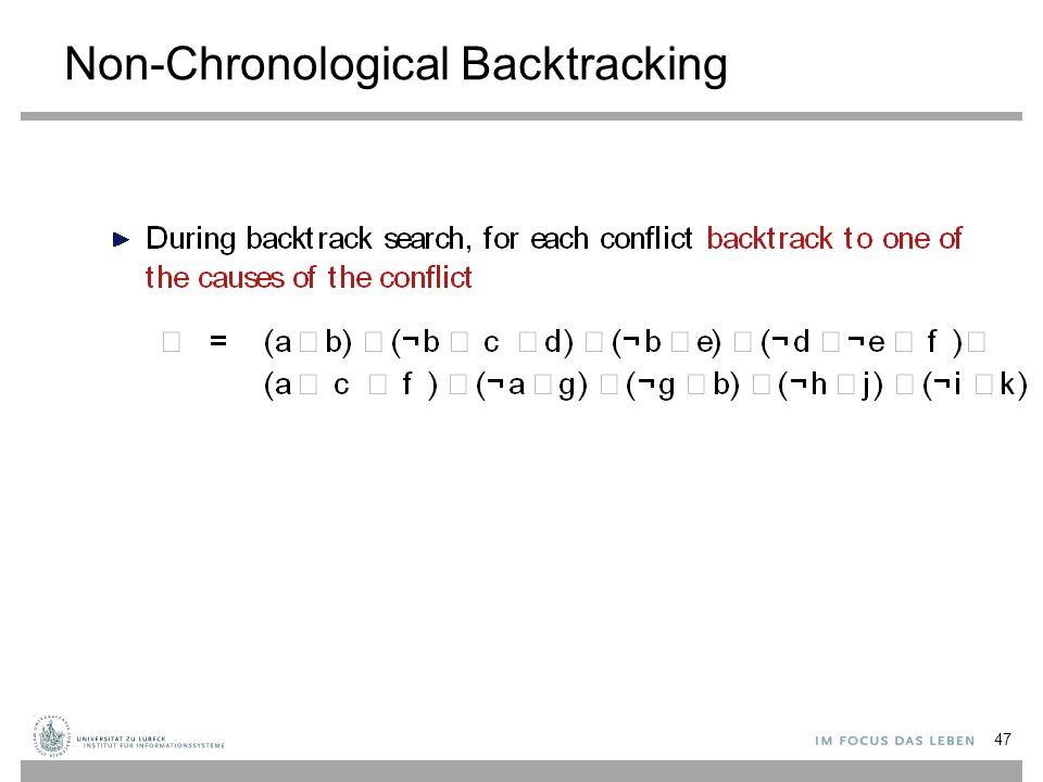 Non-Chronological Backtracking 47