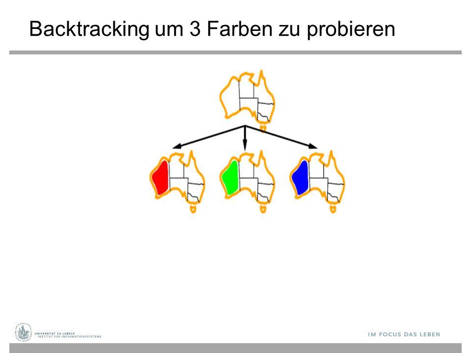 Backtracking um 3 Farben zu probieren