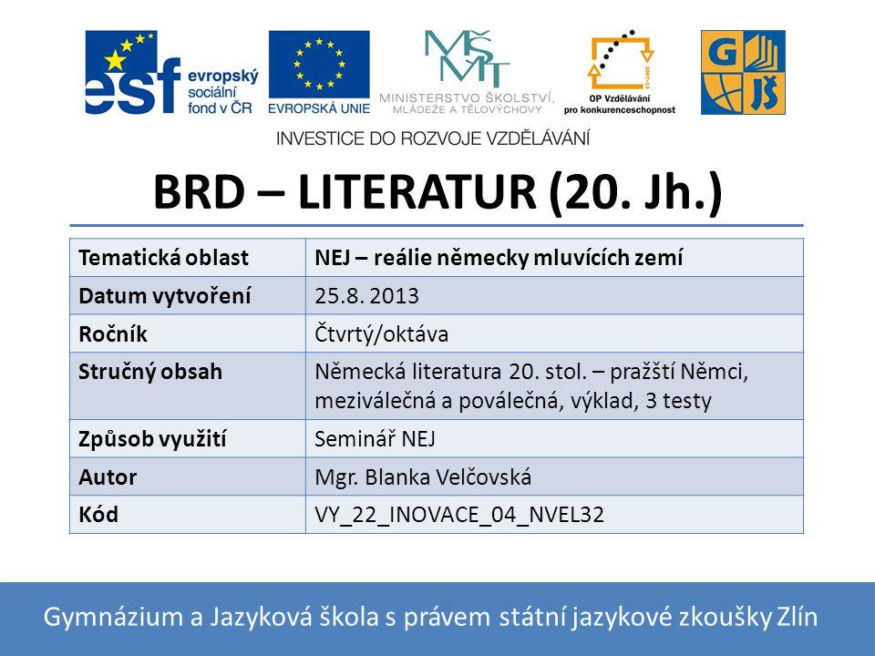 BRD – LITERATUR (20.