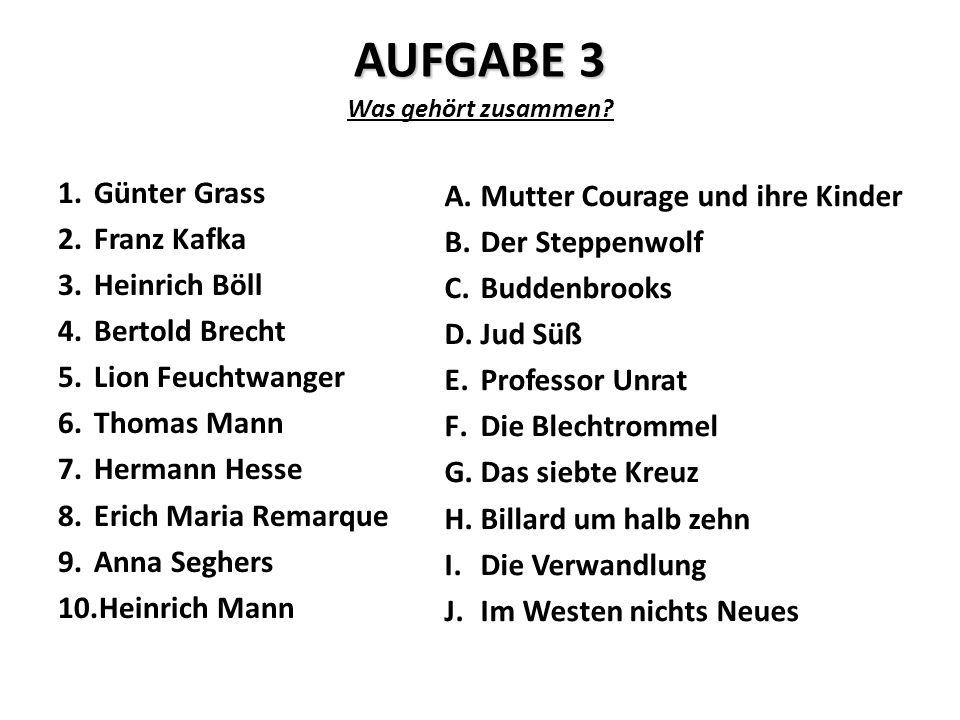 AUFGABE 3 Was gehört zusammen.
