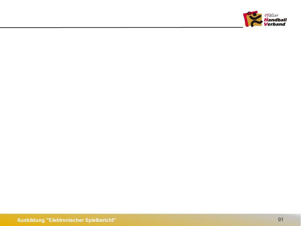 Ausbildung Elektronischer Spielbericht 92 Nach Spielende: Spiel versiegeln