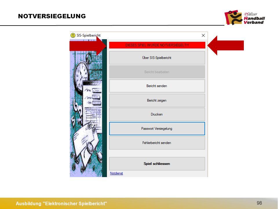 Ausbildung Elektronischer Spielbericht 99 Spiel versenden