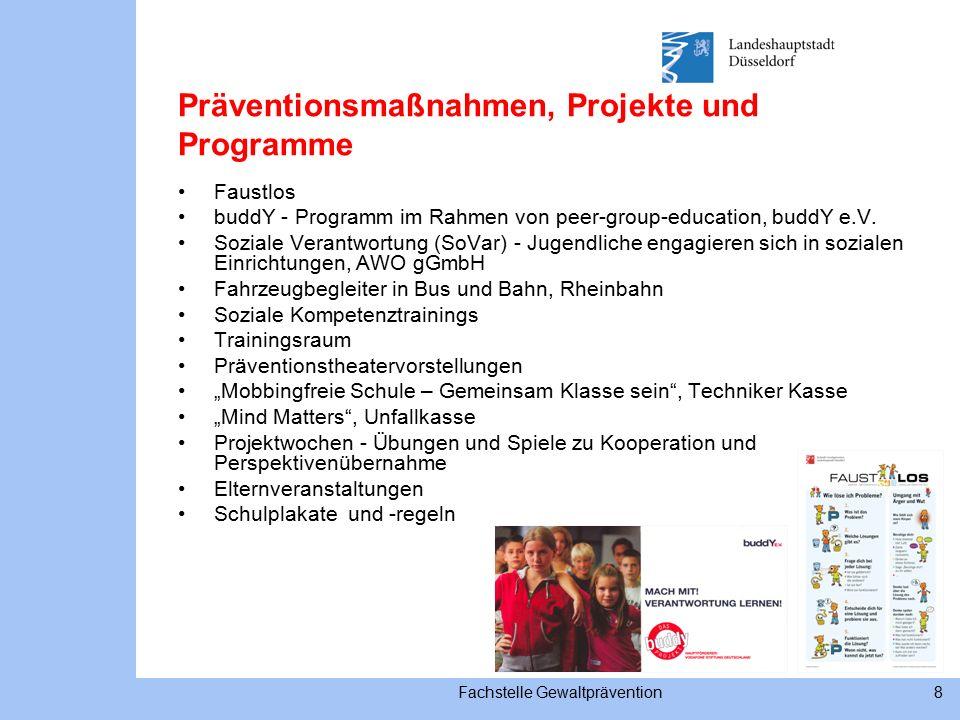 Fachstelle Gewaltprävention8 Präventionsmaßnahmen, Projekte und Programme Faustlos buddY - Programm im Rahmen von peer-group-education, buddY e.V.