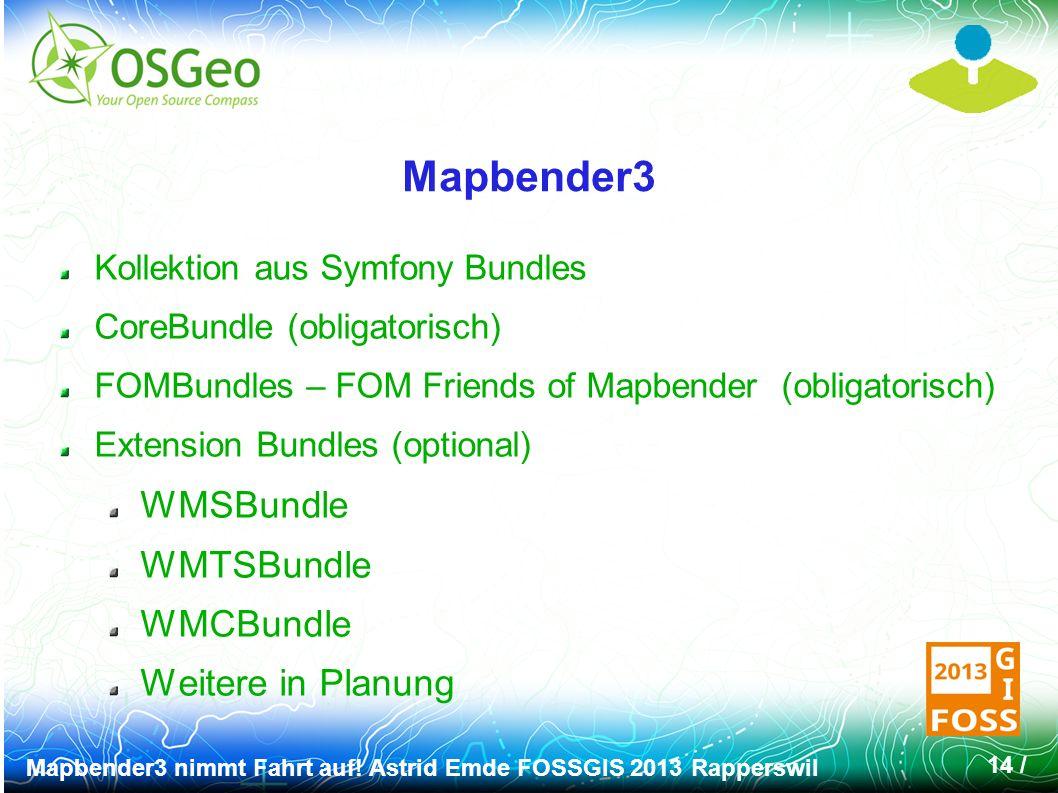 Mapbender3 nimmt Fahrt auf.