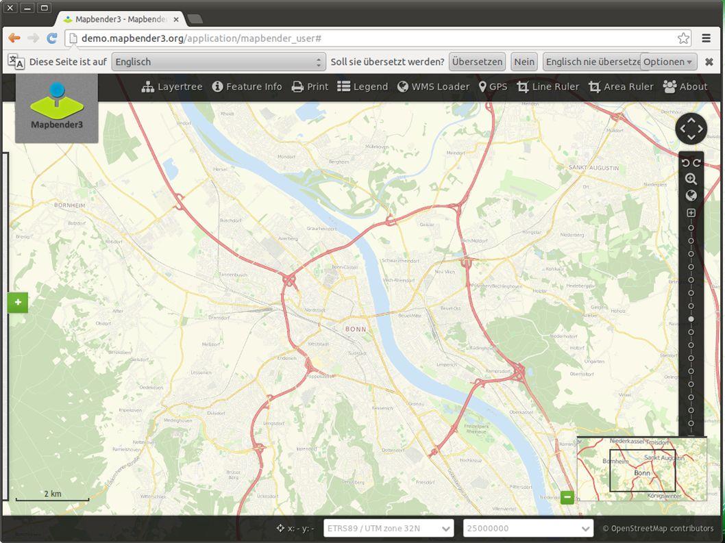 Mapbender3 nimmt Fahrt auf! Astrid Emde FOSSGIS 2013 Rapperswil 2 / Basis-Demo