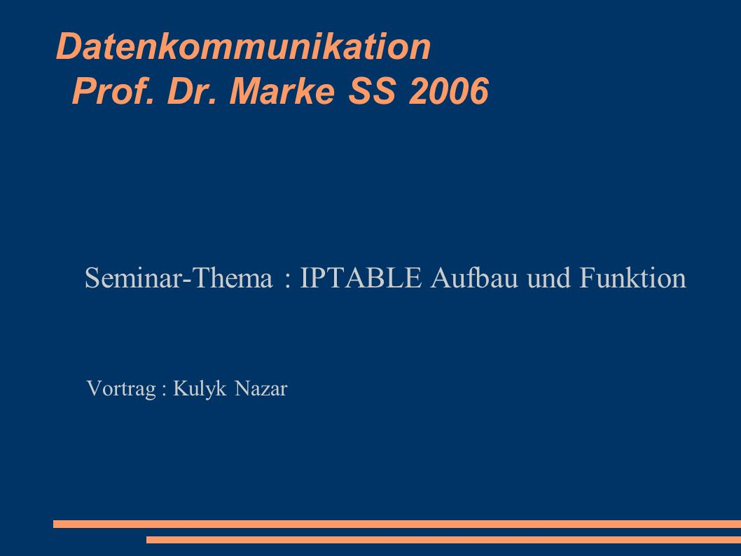 Datenkommunikation Prof. Dr.