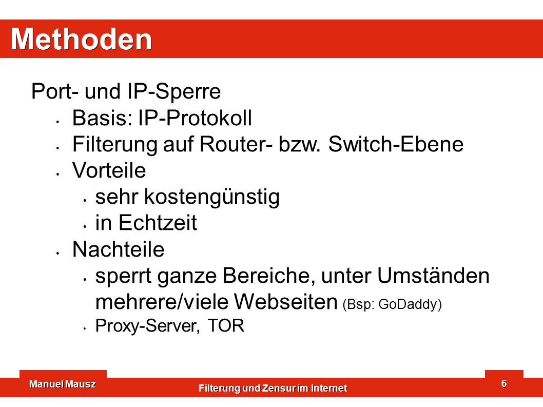 Manuel Mausz Filterung und Zensur im Internet 17 ChinaNet Next Carrying Network höchst zentralistischer Aufbau!