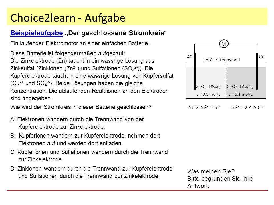 """Choice2learn - Aufgabe BeispielaufgabeBeispielaufgabe """"Der geschlossene Stromkreis Ein laufender Elektromotor an einer einfachen Batterie."""