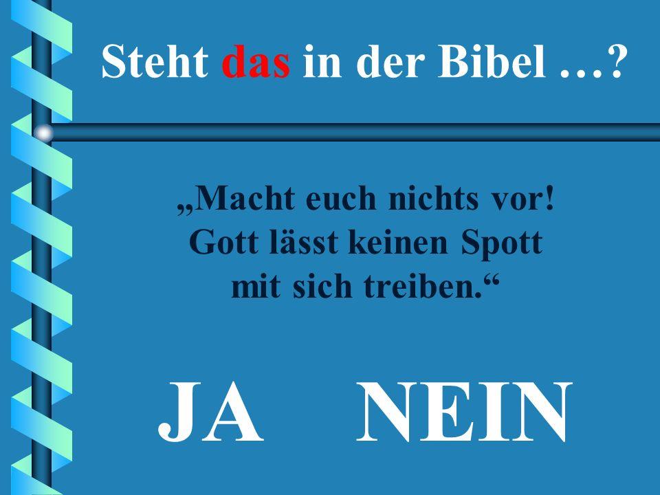 """JA """"Betrachtet es als Ehrensache, ein geregeltes Leben zu führen."""" (1. Thessalonicherbrief 4,11) Steht das in der Bibel …?"""