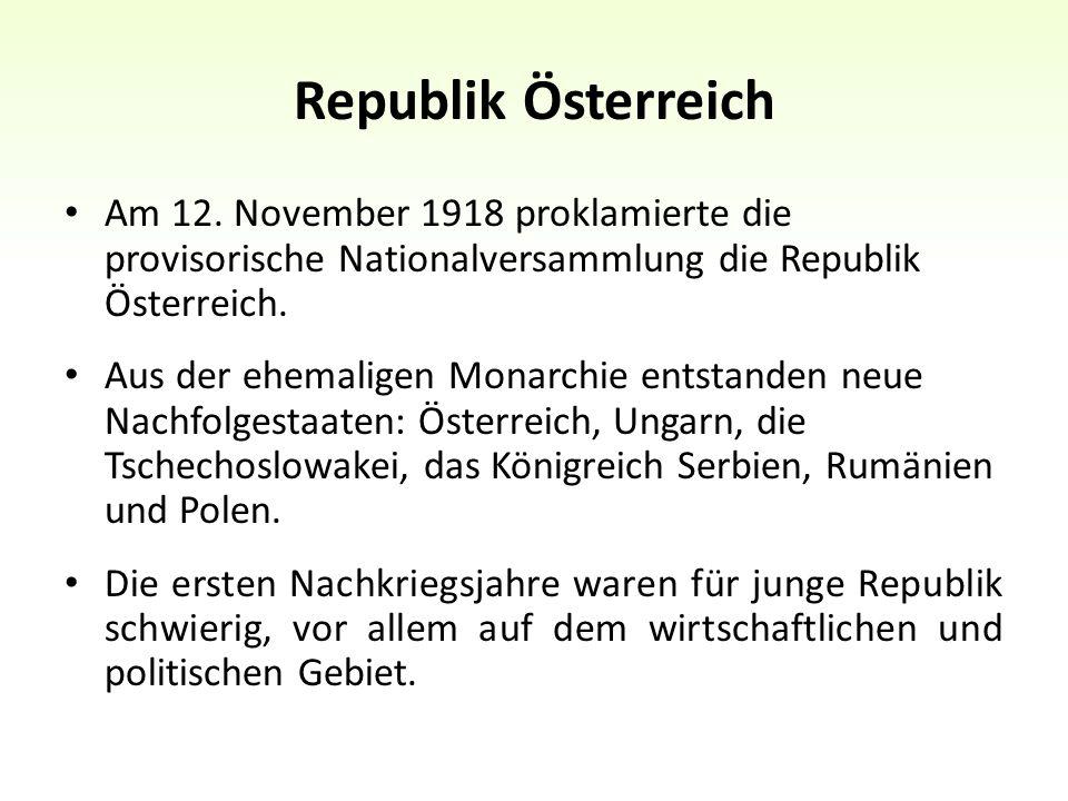 Republik Österreich Am 12.