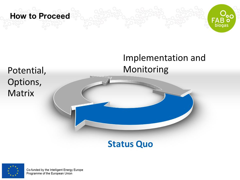 Implementation and Monitoring Potential, Options, Matrix Status Quo How to Proceed