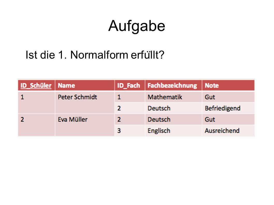 Schlu ̈ sselkandidaten - Beispiel Funktionale Abha ̈ ngigkeiten:  1.