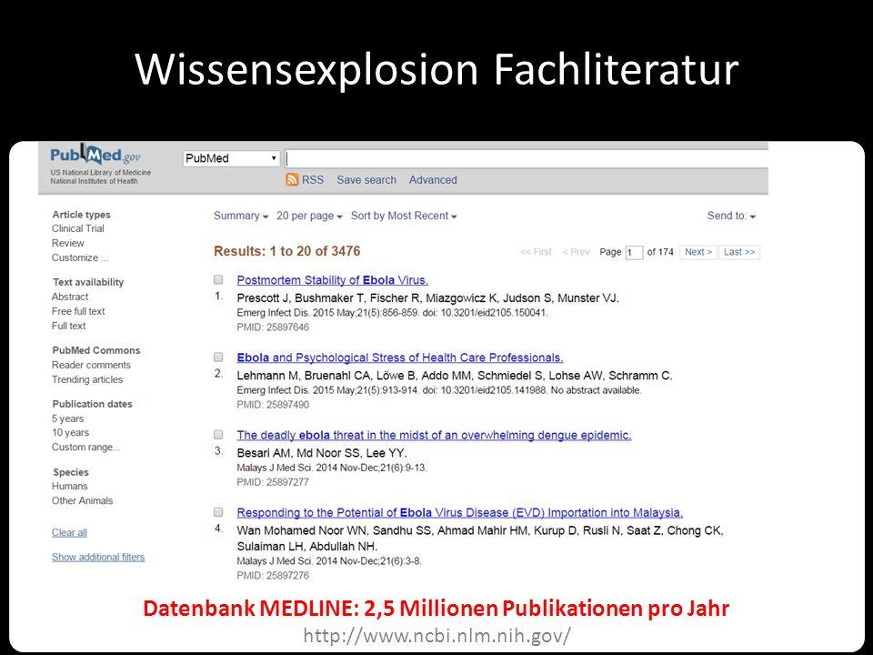 Wissensexplosion Biochemie UniProtKB: 47 Millionen Datensätze http://www.uniprot.org/