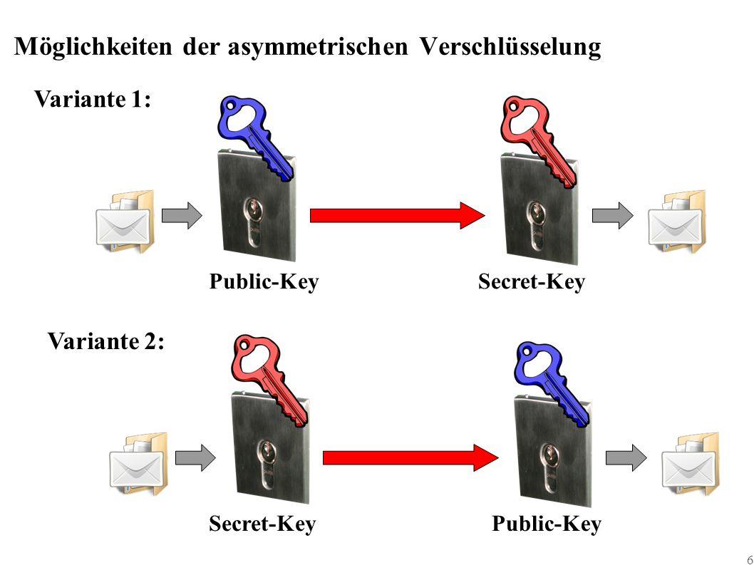 17 Certification Authority, die bessere Variante ■ Beim Ring of Trust verbleibt Unsicherheit ob die Gegenzeichner denn echt sind!??.