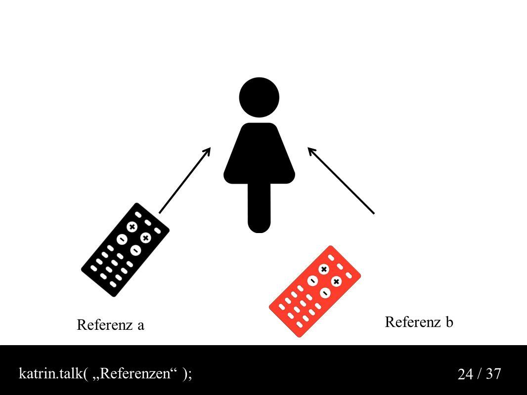 """/ 37 24 Referenz a Referenz b katrin.talk( """"Referenzen );"""