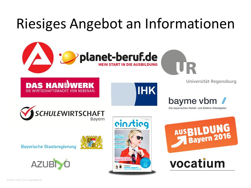 Quelle: http://www.google.de Riesiges Angebot an Informationen