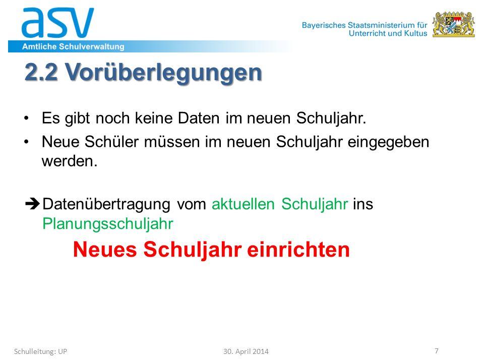 4.1 Klassen(gruppen) löschen Schulleitung: UP 30.