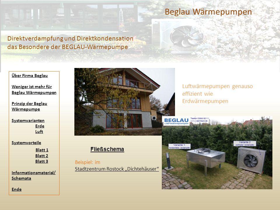 """Beglau Wärmepumpen Direktverdampfung und Direktkondensation das Besondere der BEGLAU-Wärmepumpe Beispiel: im Stadtzentrum Rostock """"Dichtehäuser"""" Luftw"""