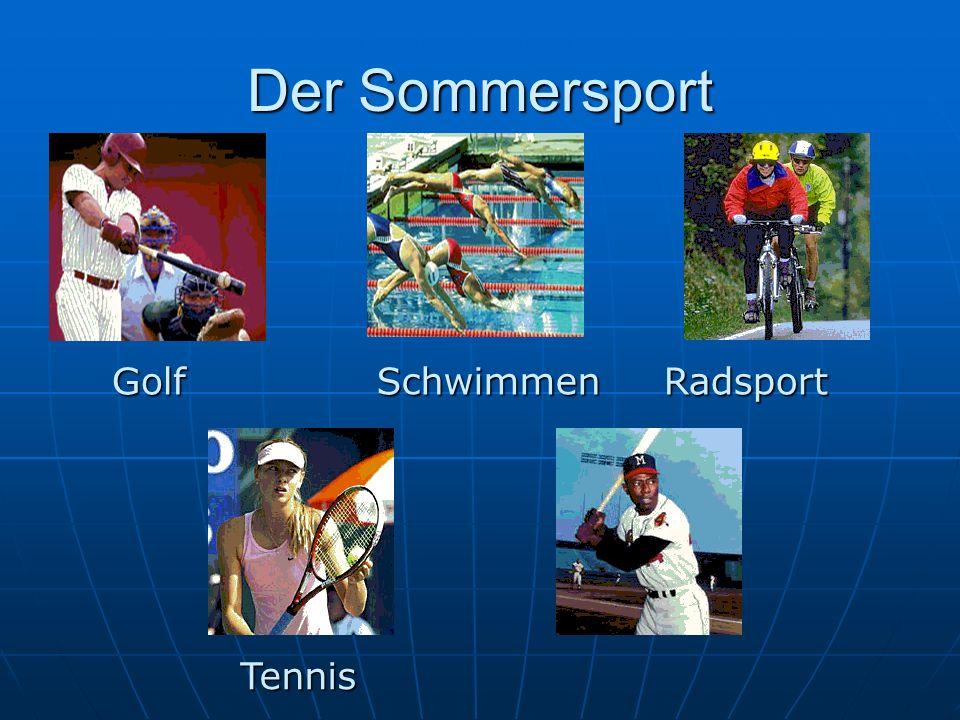 Golf Tennis RadsportSchwimmen