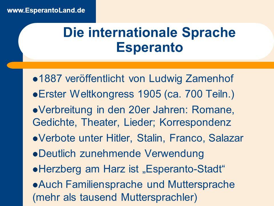 www.EsperantoLand.de Warum Esperanto lernen.Esperanto lernen macht Spaß und geht leicht.