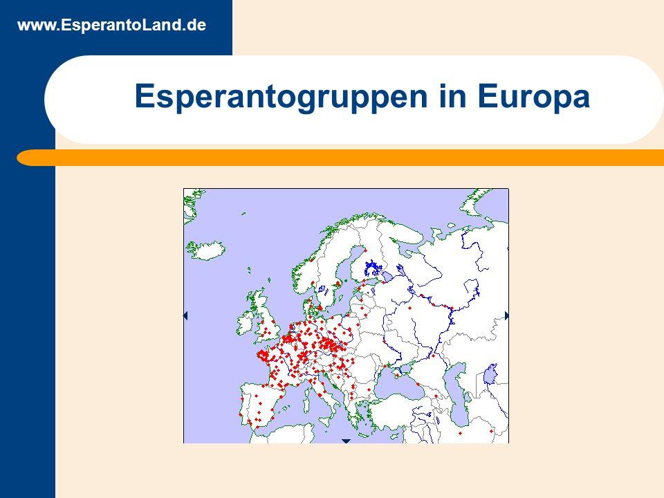 www.EsperantoLand.de Esperantogruppen in Europa