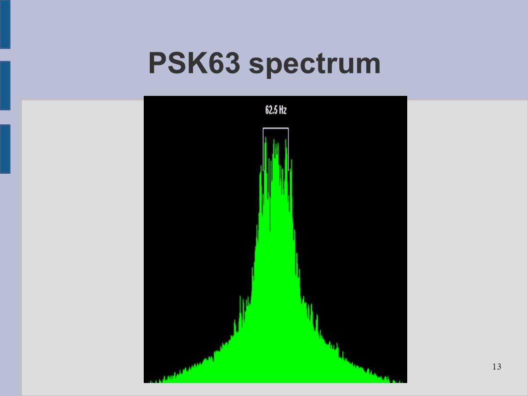 13 PSK63 spectrum