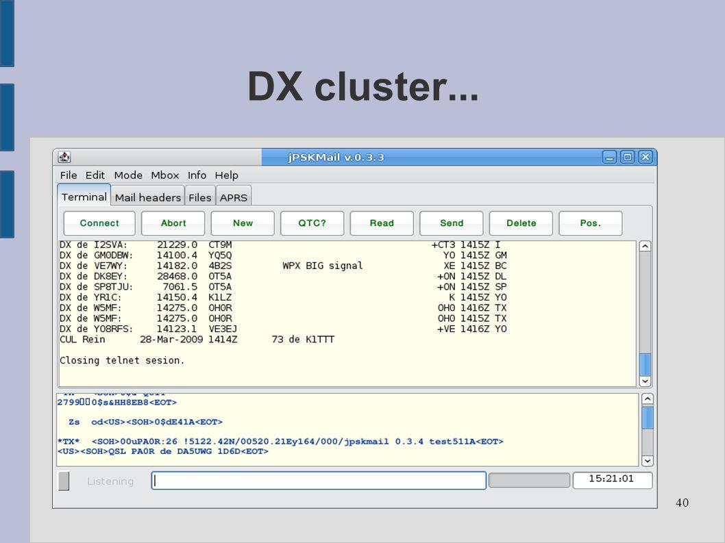 40 DX cluster...