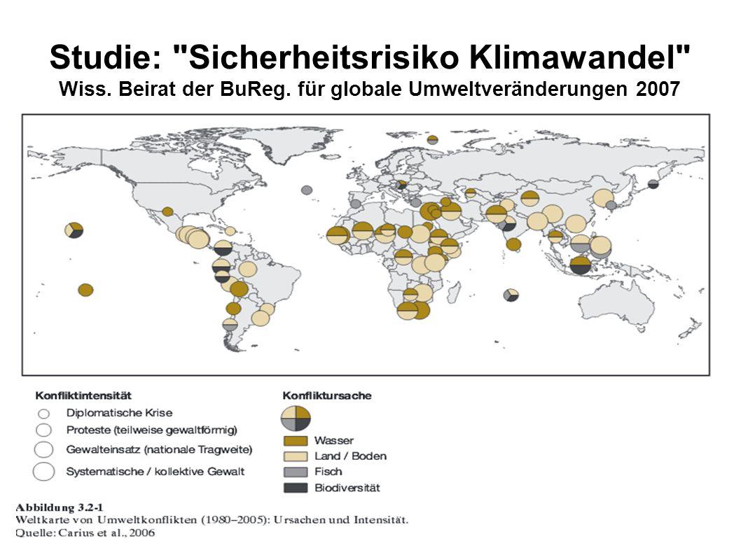 Studie: Sicherheitsrisiko Klimawandel Wiss. Beirat der BuReg.