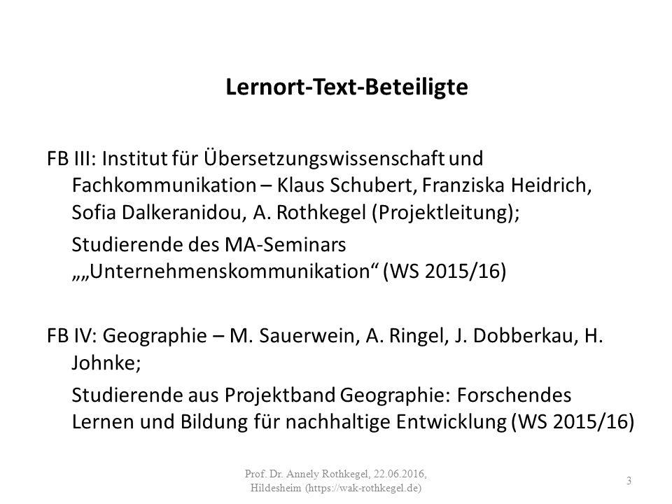 Lernort-Text-Beteiligte FB III: Institut für Übersetzungswissenschaft und Fachkommunikation – Klaus Schubert, Franziska Heidrich, Sofia Dalkeranidou, A.
