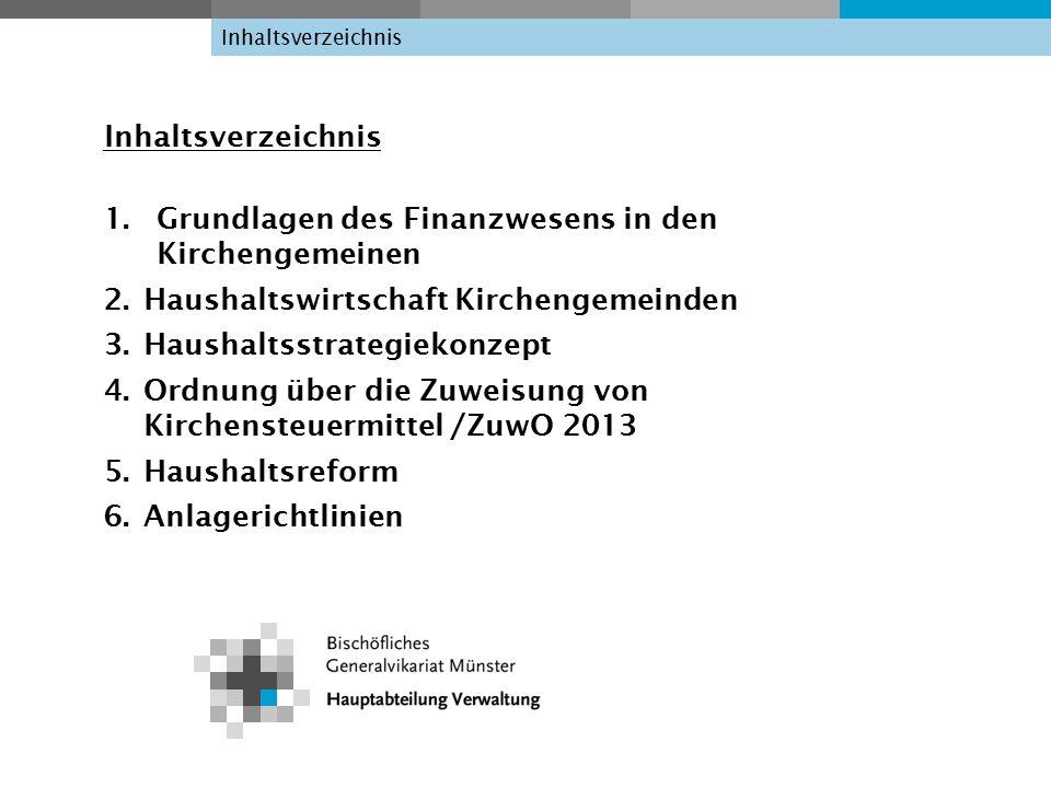 Grundlagen des Finanzwesens in den Kirchengemeinden 1.1 Canonisches Recht Can.