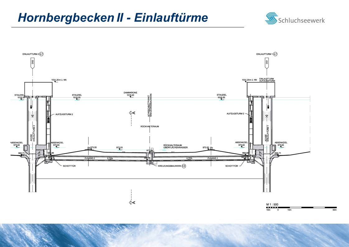 Hornbergbecken II - Einlauftürme